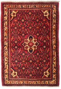 Hamadan Matto 102X146 Itämainen Käsinsolmittu Tummanpunainen/Musta (Villa, Persia/Iran)