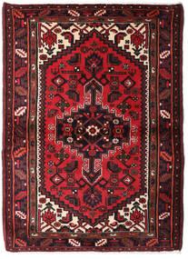 Hamadan Matto 103X142 Itämainen Käsinsolmittu Tummanpunainen/Musta (Villa, Persia/Iran)