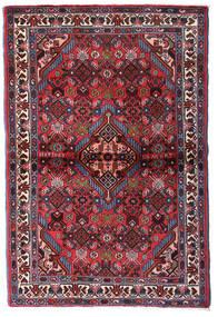 Hamadan Matto 100X150 Itämainen Käsinsolmittu Tummanpunainen/Tummanruskea (Villa, Persia/Iran)