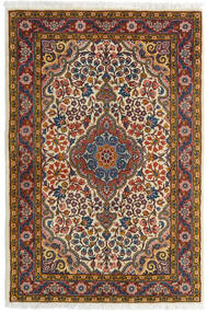 Sarough Matto 72X105 Itämainen Käsinsolmittu Tummanruskea/Vaaleanruskea (Villa, Persia/Iran)