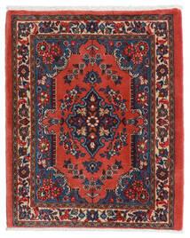 Sarough Matto 67X80 Itämainen Käsinsolmittu Tummanpunainen/Ruoste (Villa, Persia/Iran)