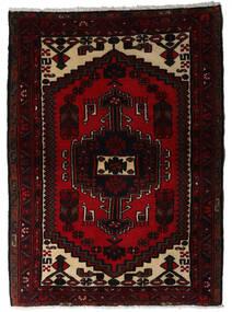 Hamadan Matto 100X137 Itämainen Käsinsolmittu Tummanpunainen (Villa, Persia/Iran)