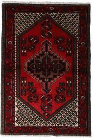 Hamadan Matto 97X145 Itämainen Käsinsolmittu Tummanpunainen (Villa, Persia/Iran)