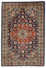 Tabriz Matto 57X82 Itämainen Käsinsolmittu Musta/Tummanharmaa (Villa, Persia/Iran)