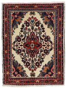 Hamadan Shahrbaf Matto 65X85 Itämainen Käsinsolmittu Tummanruskea/Tummanpunainen (Villa, Persia/Iran)