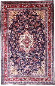Hamadan Shahrbaf Matto 205X318 Itämainen Käsinsolmittu Vaaleanharmaa/Tummanvioletti (Villa, Persia/Iran)