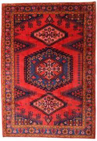Wiss Matto 215X310 Itämainen Käsinsolmittu Tummanvioletti/Tummanpunainen/Punainen (Villa, Persia/Iran)
