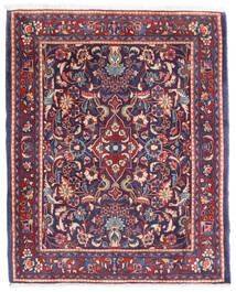 Sarough Matto 67X83 Itämainen Käsinsolmittu Tummanvioletti/Valkoinen/Creme (Villa, Persia/Iran)