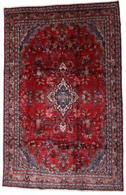 Hamadan Shahrbaf Matto 208X310 Itämainen Käsinsolmittu Tummanpunainen/Punainen (Villa, Persia/Iran)