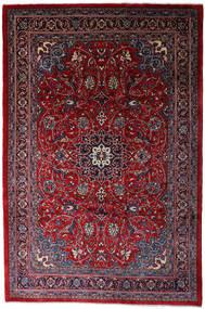 Mahal Matto 220X335 Itämainen Käsinsolmittu Tummanpunainen/Musta (Villa, Persia/Iran)