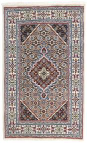 Moud Matto 77X125 Itämainen Käsinsolmittu Vaaleanharmaa/Tummanpunainen (Villa/Silkki, Persia/Iran)