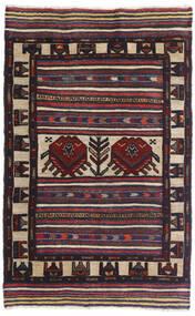 Kelim Golbarjasta Matto 95X150 Itämainen Käsinkudottu Musta/Tummanvioletti (Villa, Afganistan)
