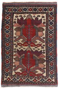 Kelim Golbarjasta Matto 90X140 Itämainen Käsinkudottu Tummansininen/Tummanruskea (Villa, Afganistan)