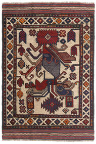 Kelim Golbarjasta Matto 90X140 Itämainen Käsinkudottu Tummanruskea/Tummansininen (Villa, Afganistan)