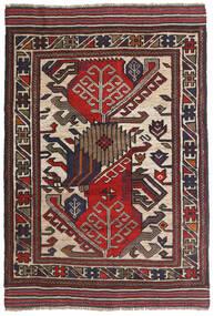 Kelim Golbarjasta Matto 100X140 Itämainen Käsinkudottu Tummanruskea/Tummanpunainen (Villa, Afganistan)