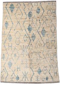 Moroccan Berber - Afghanistan Matto 160X234 Moderni Käsinsolmittu Vaaleanharmaa/Beige (Villa, Afganistan)