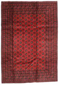 Afghan Matto 202X289 Itämainen Käsinsolmittu Tummanpunainen/Ruoste (Villa, Afganistan)