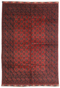 Afghan Matto 197X284 Itämainen Käsinsolmittu Tummanpunainen/Tummanruskea (Villa, Afganistan)