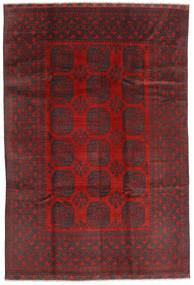 Afghan Matto 195X288 Itämainen Käsinsolmittu Tummanpunainen/Musta (Villa, Afganistan)