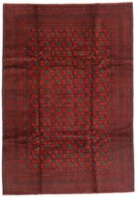 Afghan Matto 199X289 Itämainen Käsinsolmittu Tummanpunainen/Tummanruskea (Villa, Afganistan)