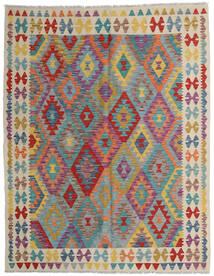 Kelim Afghan Old Style Matto 152X198 Itämainen Käsinkudottu Vaaleanruskea/Vaaleanharmaa (Villa, Afganistan)