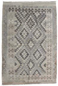 Kelim Afghan Old Style Matto 120X179 Itämainen Käsinkudottu Vaaleanharmaa/Tummanharmaa (Villa, Afganistan)