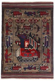 Kelim Golbarjasta Matto 95X135 Itämainen Käsinkudottu Tummanruskea/Tummansininen (Villa, Afganistan)