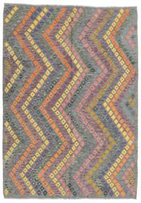 Kelim Afghan Old Style Matto 169X239 Itämainen Käsinkudottu Tummanharmaa/Vaaleanharmaa (Villa, Afganistan)