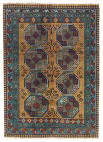 Afghan Matto 122X170 Itämainen Käsinsolmittu Tummanharmaa/Vaaleanruskea (Villa, Afganistan)