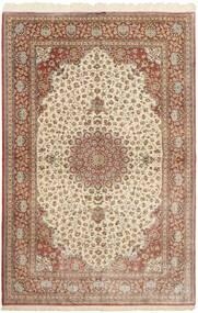 Ghom Silkki Matto 160X251 Itämainen Käsinsolmittu Ruskea/Beige (Silkki, Persia/Iran)