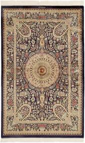 Ghom Silkki Matto 99X157 Itämainen Käsinsolmittu Tummanruskea/Ruskea (Silkki, Persia/Iran)