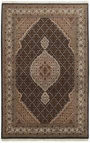 Tabriz Royal Matto 126X191 Itämainen Käsinsolmittu Tummanruskea/Ruskea ( Intia)