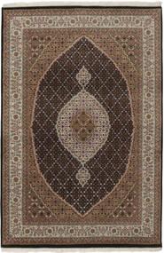 Tabriz Royal Matto 137X199 Itämainen Käsinsolmittu Tummanruskea/Ruskea/Vaaleanharmaa ( Intia)