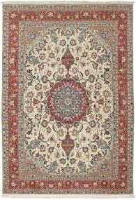 Tabriz 50 Raj Matto 154X224 Itämainen Käsinsolmittu Vaaleanharmaa/Tummanruskea (Villa/Silkki, Persia/Iran)