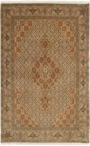 Tabriz 50 Raj Matto 100X158 Itämainen Käsinsolmittu Vaaleanruskea/Ruskea (Villa/Silkki, Persia/Iran)