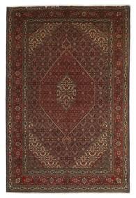 Tabriz 40 Raj Matto 201X312 Itämainen Käsinsolmittu Tummanpunainen/Tummanruskea/Ruskea (Villa/Silkki, Persia/Iran)