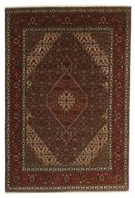 Tabriz 40 Raj Matto 196X301 Itämainen Käsinsolmittu Tummanruskea/Ruskea (Villa/Silkki, Persia/Iran)