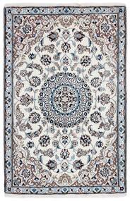 Nain 9La Matto 90X142 Itämainen Käsinsolmittu Tummanharmaa/Beige/Valkoinen/Creme (Villa/Silkki, Persia/Iran)