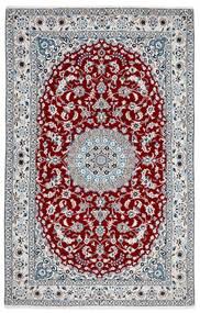 Nain 9La Matto 156X245 Itämainen Käsinsolmittu Tummanharmaa/Valkoinen/Creme (Villa/Silkki, Persia/Iran)