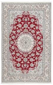 Nain 9La Matto 152X244 Itämainen Käsinsolmittu Vaaleanharmaa/Tummanpunainen (Villa/Silkki, Persia/Iran)