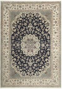 Nain 6La Matto 210X293 Itämainen Käsinsolmittu Vaaleanharmaa/Tummanharmaa (Villa/Silkki, Persia/Iran)