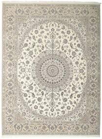 Nain 6La Matto 312X410 Itämainen Käsinsolmittu Vaaleanharmaa/Beige Isot (Villa/Silkki, Persia/Iran)