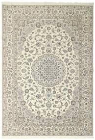 Nain 6La Matto 258X371 Itämainen Käsinsolmittu Vaaleanharmaa/Beige Isot (Villa/Silkki, Persia/Iran)