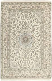 Nain 6La Matto 204X311 Itämainen Käsinsolmittu Beige/Vaaleanharmaa/Tummanbeige (Villa/Silkki, Persia/Iran)