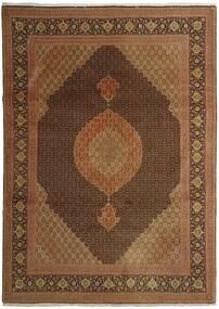 Tabriz 50 Raj Matto 254X358 Itämainen Käsinsolmittu Ruskea/Tummanruskea Isot (Villa/Silkki, Persia/Iran)