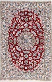 Nain 9La Matto 137X208 Itämainen Käsinsolmittu Tummanruskea/Vaaleanharmaa (Villa/Silkki, Persia/Iran)