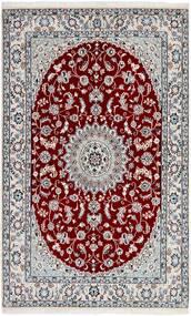 Nain 9La Matto 130X210 Itämainen Käsinsolmittu Vaaleanharmaa/Punainen (Villa/Silkki, Persia/Iran)