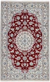 Nain 9La Matto 128X205 Itämainen Käsinsolmittu Vaaleanharmaa/Tummanpunainen (Villa/Silkki, Persia/Iran)