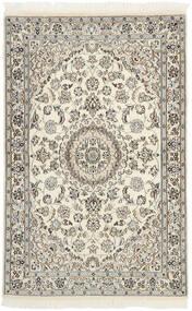 Nain 9La Matto 115X178 Itämainen Käsinsolmittu Beige/Vaaleanharmaa (Villa/Silkki, Persia/Iran)