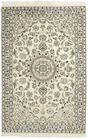 Nain 9La Matto 117X175 Itämainen Käsinsolmittu Beige/Vaaleanharmaa (Villa/Silkki, Persia/Iran)